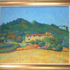 Arte: JOAN RAFI-(VALLS,1921-2002)-PINTURA ÓLEO/TELA,CATALOGADO AÑOS 50,(MONTAÑA MÁGICA-PAISAJE RURAL).. Lote 55153917