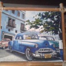 Arte: PRECIOSA PINTURA EN OLEO EN LIENZO DE PINTOR CUBANO ,CON MARCO ORIGINAL.. Lote 55235882