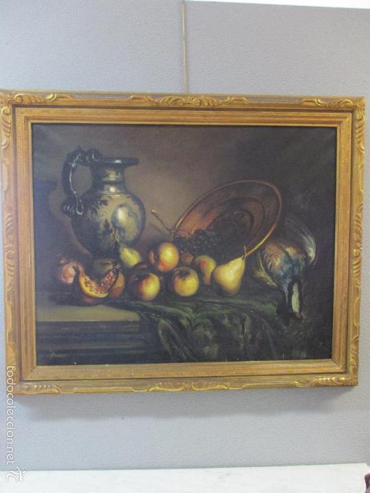 JOSEP TRUCO PRAT - BARCELONA (1923) - BODEGÓN - ÓLEO SOBRE LIENZO - CON MARCO DORADO - AÑOS 50 (Arte - Pintura - Pintura al Óleo Moderna sin fecha definida)