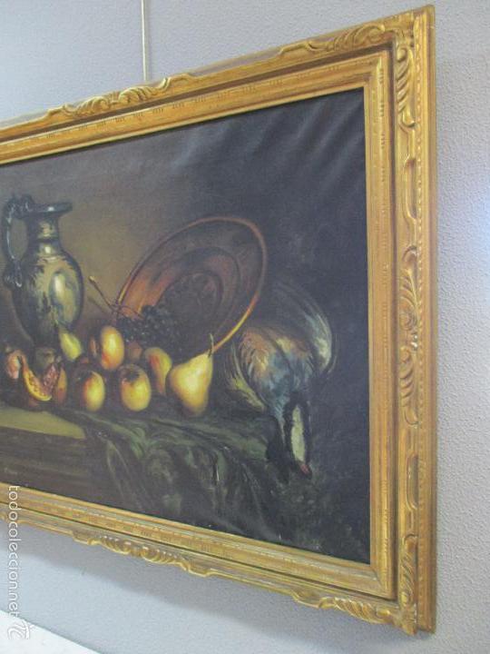 Arte: Josep Truco Prat - Barcelona (1923) - Bodegón - óleo sobre lienzo - con marco dorado - años 50 - Foto 3 - 55334815