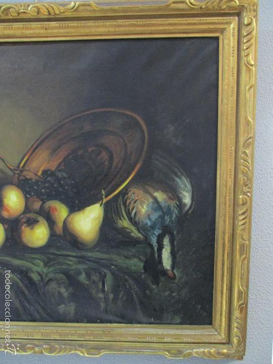 Arte: Josep Truco Prat - Barcelona (1923) - Bodegón - óleo sobre lienzo - con marco dorado - años 50 - Foto 8 - 55334815