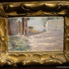 Arte: MAGNIFICO OLEO ATRIBUIDO A RAMON CASAS (1866-1932) ESTUDIO DE PAISAJE. EN MARCO MODERNISTA.. Lote 55393213