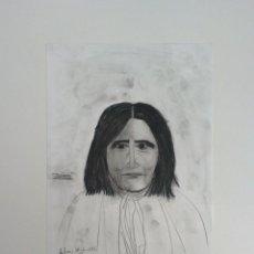 Arte: INDIO JERÓNIMO. APACHE. DIBUJO AL CARBONCILLO. ORIGINAL. BARATO COLECCIONISMO INTERESANTE. Lote 55421884