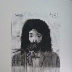 Arte: CAMARÓN. DIBUJO AL CARBONCILLO. COLECCIONISMO. ORIGINAL.. Lote 55423805