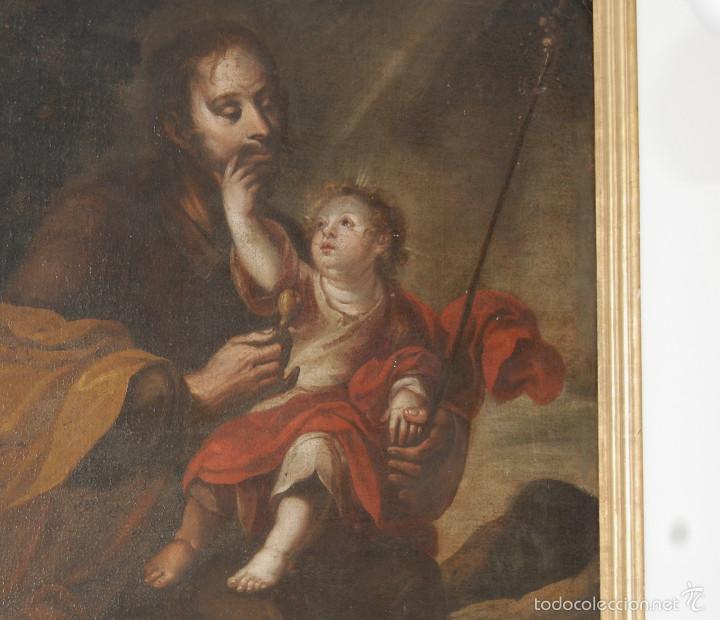 Arte: Seguidor de Murillo - ESCUELA SEVILLANA DEL SIGLO XVII o ppios. XVIII - Foto 3 - 55493661