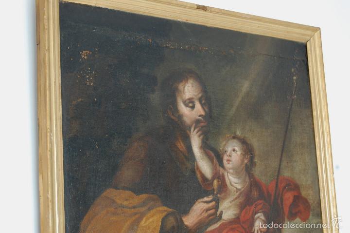 Arte: Seguidor de Murillo - ESCUELA SEVILLANA DEL SIGLO XVII o ppios. XVIII - Foto 5 - 55493661
