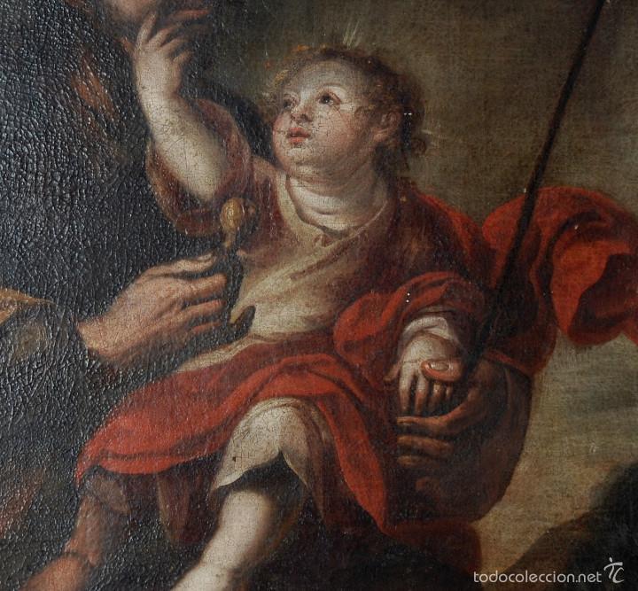 Arte: Seguidor de Murillo - ESCUELA SEVILLANA DEL SIGLO XVII o ppios. XVIII - Foto 7 - 55493661