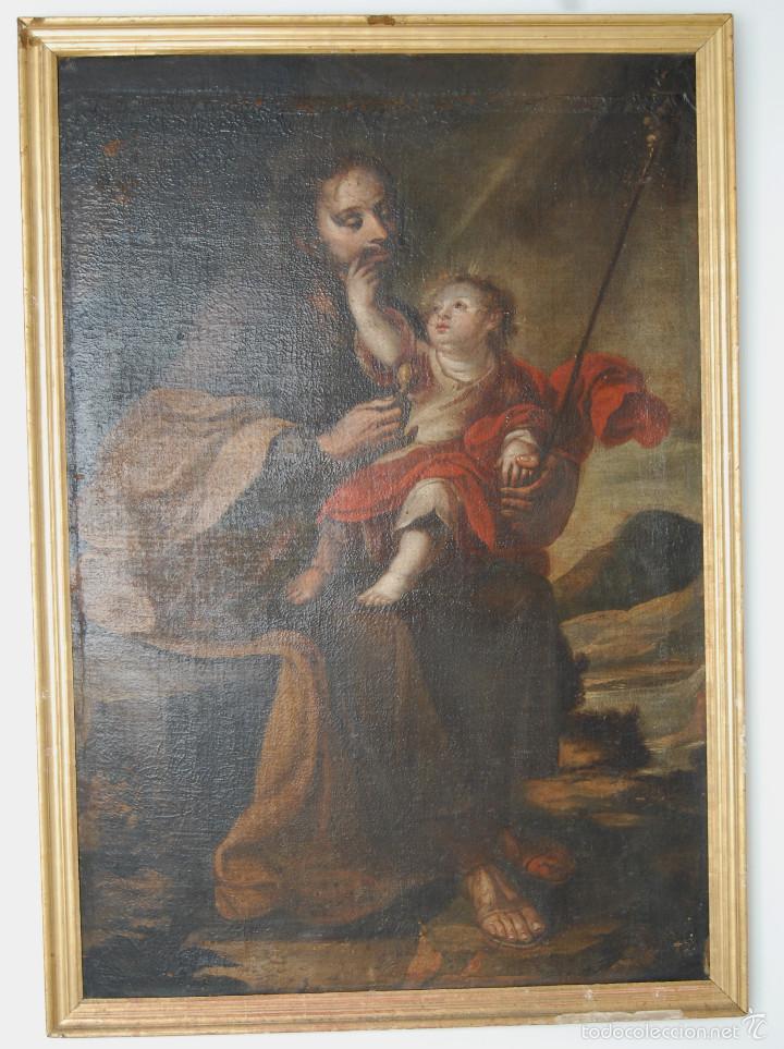 Arte: Seguidor de Murillo - ESCUELA SEVILLANA DEL SIGLO XVII o ppios. XVIII - Foto 8 - 55493661