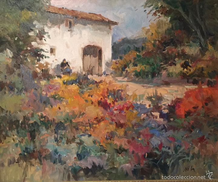 Arte: BONITO OLEO SOBRE LIENZO ENMARCADO FIRMADO ILEGIBLE - Foto 2 - 55708994