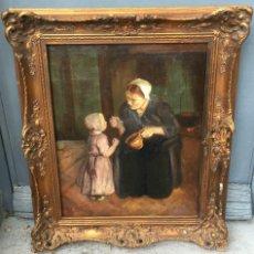 Arte: BERNARD JOHANN DE HOOG (1866-1943) PINTOR HOLANDÉS - ÓLEO SOBRE TELA. Lote 55772499