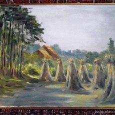 Arte: PINTURA AL ÓLEO - PAISAGEM RURAL - FIRMADO. Lote 55793457