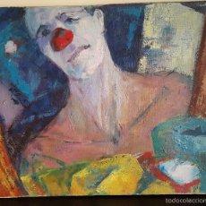Arte: ÓLEO SOBRE LIENZO/ PAYASO DE CHARI MUÑOZ (BARCELONA 1954). Lote 55808810
