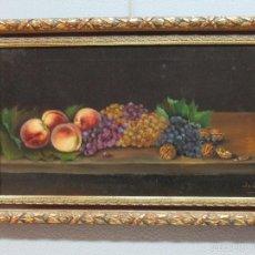 Arte: ANTIGUO ÓLEO SOBRE TELA - BODEGÓN - FIRMADO J. DE SITJAR - ENMARCADO - FINALES S. XIX. Lote 55899460