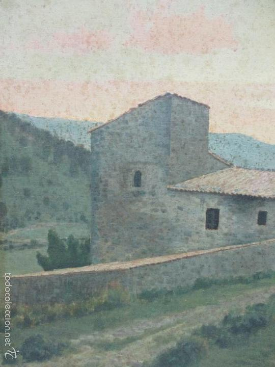Arte: Antiguo óleo sobre tela - Paisaje - Escuela Paisajista Catalana - Circulo Joaquin Vayreda - Olot - Foto 3 - 55900338
