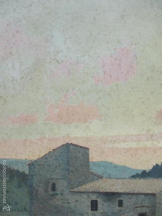 Arte: Antiguo óleo sobre tela - Paisaje - Escuela Paisajista Catalana - Circulo Joaquin Vayreda - Olot - Foto 4 - 55900338