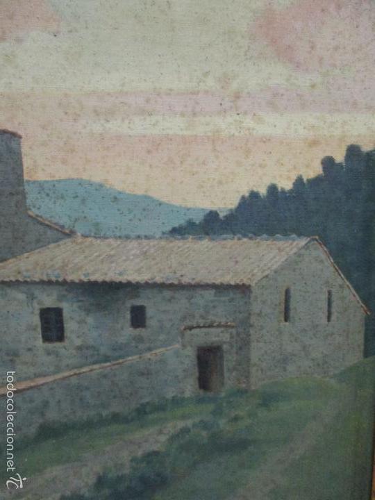 Arte: Antiguo óleo sobre tela - Paisaje - Escuela Paisajista Catalana - Circulo Joaquin Vayreda - Olot - Foto 6 - 55900338