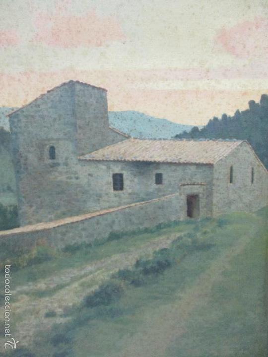 Arte: Antiguo óleo sobre tela - Paisaje - Escuela Paisajista Catalana - Circulo Joaquin Vayreda - Olot - Foto 7 - 55900338