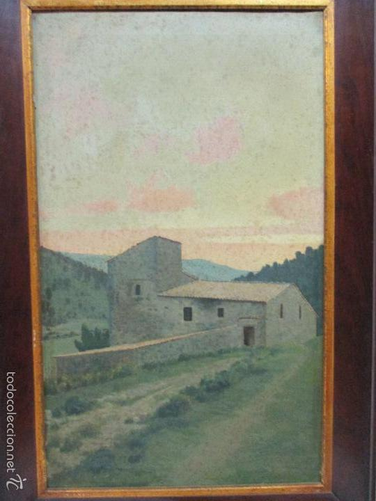 Arte: Antiguo óleo sobre tela - Paisaje - Escuela Paisajista Catalana - Circulo Joaquin Vayreda - Olot - Foto 8 - 55900338