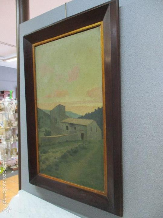 Arte: Antiguo óleo sobre tela - Paisaje - Escuela Paisajista Catalana - Circulo Joaquin Vayreda - Olot - Foto 12 - 55900338
