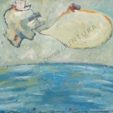 Arte: DOMINGO CORREA MIXTA / LIENZO. 'EL HOMBRE Y LA TIERRA II' FIGURACIÓN. OLEO - ESMALTE.. Lote 33836548
