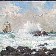 Arte: ANDREA MARCHISIO (1850-1927) PINTOR ITALIANO - ÓLEO SOBRE TELA. Lote 55971694