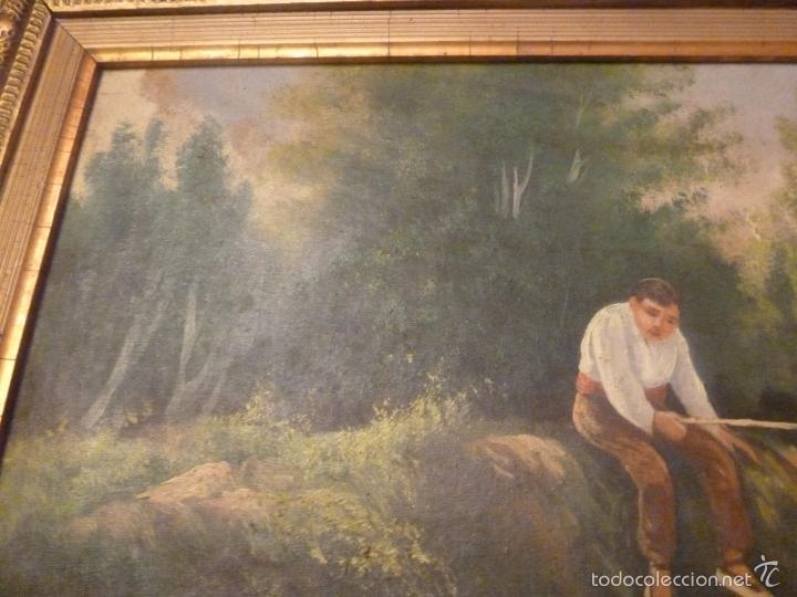 Arte: oleo sobre lienzo pescador - Foto 2 - 55976770