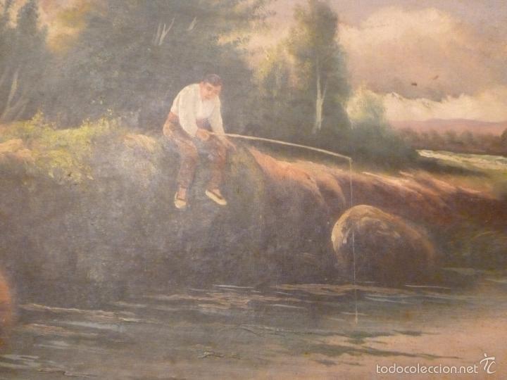 Arte: oleo sobre lienzo pescador - Foto 4 - 55976770