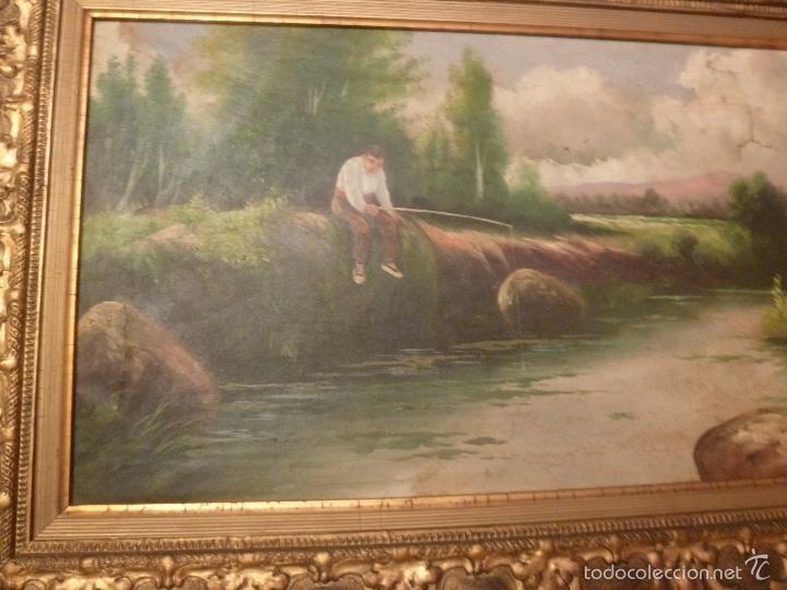 Arte: oleo sobre lienzo pescador - Foto 8 - 55976770