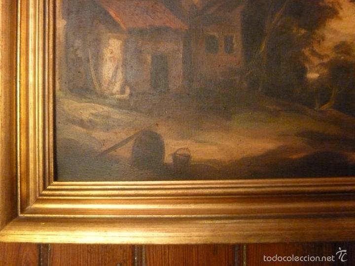 Arte: oleo sobre lienzo personaje a caballo y casas - Foto 3 - 55977088