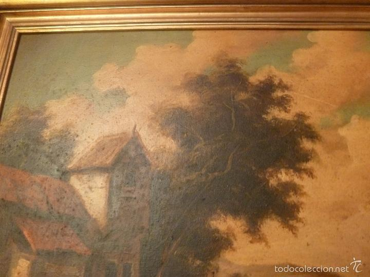 Arte: oleo sobre lienzo personaje a caballo y casas - Foto 4 - 55977088