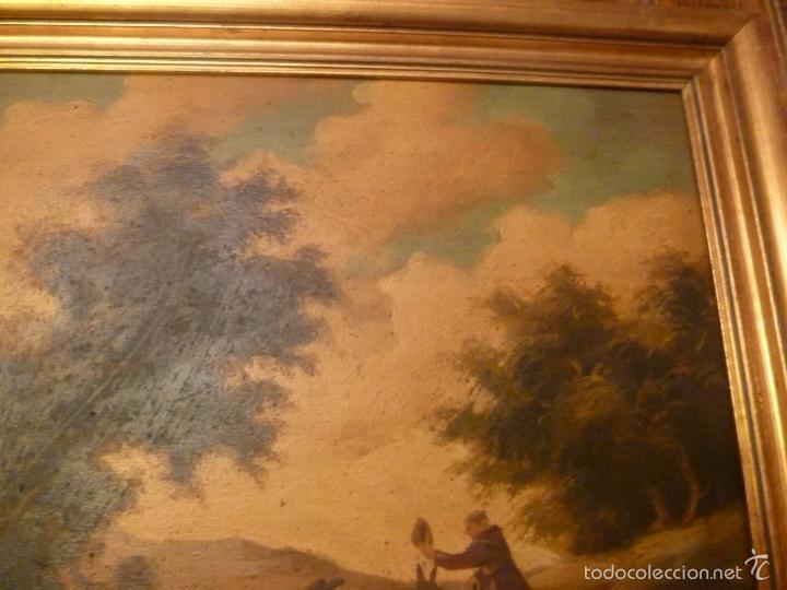 Arte: oleo sobre lienzo personaje a caballo y casas - Foto 6 - 55977088