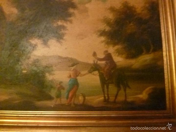 Arte: oleo sobre lienzo personaje a caballo y casas - Foto 7 - 55977088