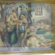 Arte: ACUARELA O GOUACHE DE UN BOMBARDEO GUERRA CIVIL ESPAÑOLA 1937 A 1939 ¿AURELIO ARTETA?. Lote 56007484