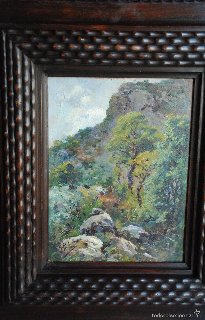 preciosa pintura enmarcada de genaro palau - Comprar Pintura al Óleo ...