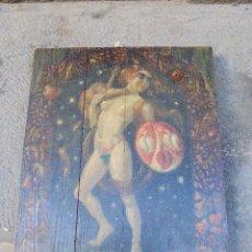 Arte: SIEGFRIED MULLER - TABLA PINTADA AL OLEO ALEMANA MAIBONLE R.D.M.1913 - 39,5 X 52 CM. . Lote 56102219