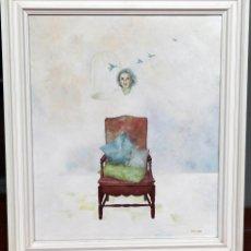 Arte: LAURA SAURÍ, ÓLEO SOBRE TABLA, 46X55 CM ENMARCADO. Lote 56173199