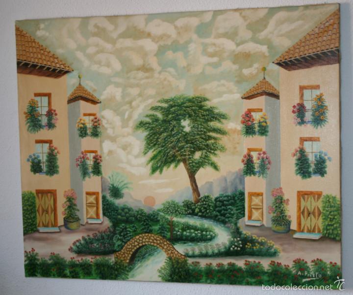 Pinturas decorativas para salones estado del saln antes - Pinturas para salones ...