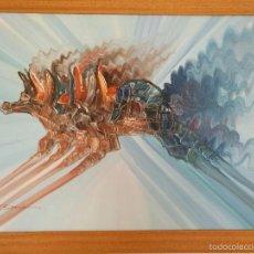 Arte: FANTÁSTICA OBRA ABSTRACTA - EL JINETE - OLEO SOBRE TABLA - FIRMADO POR EL ARTISTA. Lote 56224859