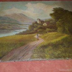 Arte: BONITO PAISAJE DEL SIGLO XIX. OLEO SOBRE LIENZO . Lote 56283811