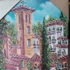 Arte: CALLE DE SEVILLA. PINTURA AL ÓLEO. SIN MARCO. 15 X 24 CM. Lote 56284898