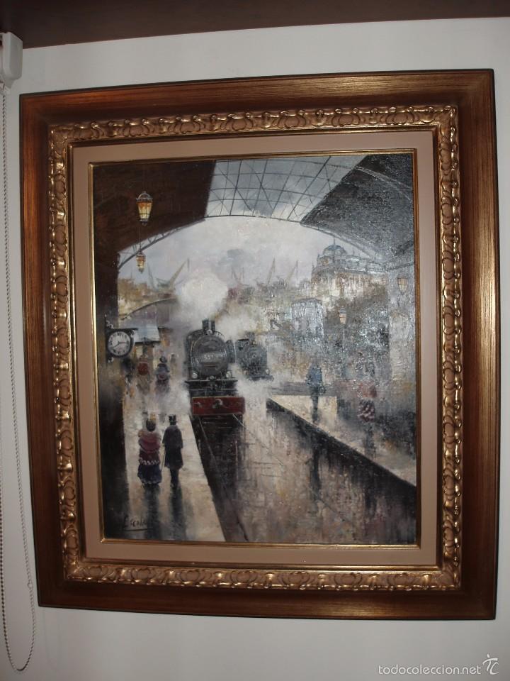 estacion tren,pintura al oleo pintor escolano c - Comprar Pintura al ...