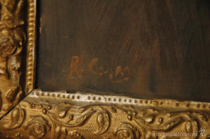 Arte: Mujer con lazo, Siglo XX, firmado R. Casas ¿Ramón Casas? - Foto 4 - 56330106