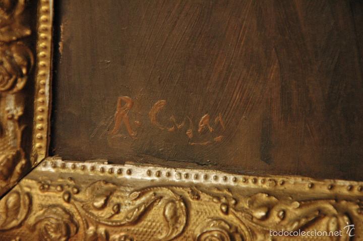 Arte: Mujer con lazo, Siglo XX, firmado R. Casas ¿Ramón Casas? - Foto 5 - 56330106