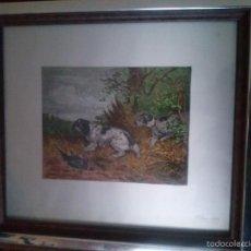 Arte: DOS CUADROS CON MOTIVOS DE CAZA OLEO SOBRE ALUMINIO.. Lote 56389185