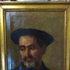Arte: ALFREDO SOUTO CUERO (1862-1940) AUTORETRATO.. Lote 56391125