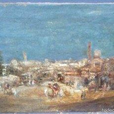 Arte - Francisco Guinart Candelich (1888-1974) Pintor Español - Óleo sobre tela - Poblado Marroquí - 56548457