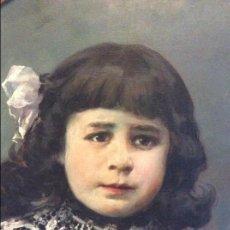 Arte: JULIO VILA Y PRADES (1873 - 1930), RETRATO NIÑA. Lote 56717662