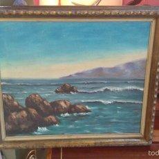 Arte: PINTURA OLEO / LIENZO ( MARINA ) OJO ¡! , INTERESANTE. Lote 56567062