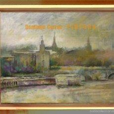 Arte: 'TORRE DEL ORO DESDE TRIANA' 46 X 33 CM. ÓLEO / LIENZO. SIN MARCO. DOMINGO CORREA. SEVILLA.. Lote 52520880