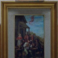 Arte: OLEO SOBRE LIENZO ESCENA TABERNA SEGUIDOR DAVID TENIERS ESCUELA HOLANDESA FINALES S XVIII AMSTERDAM. Lote 56592654